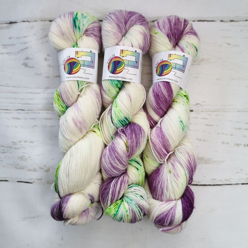 Out of this World on Merino Nylon Platinum sock