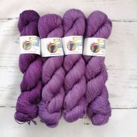 PURPLE Semi Solid on Merino Nylon Platinum sock