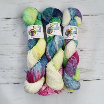 Siren's Song on Merino / Nylon Titanium sock