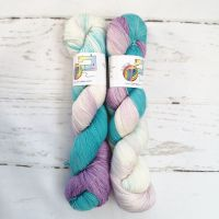 Teal Love on Merino Nylon Platinum sock