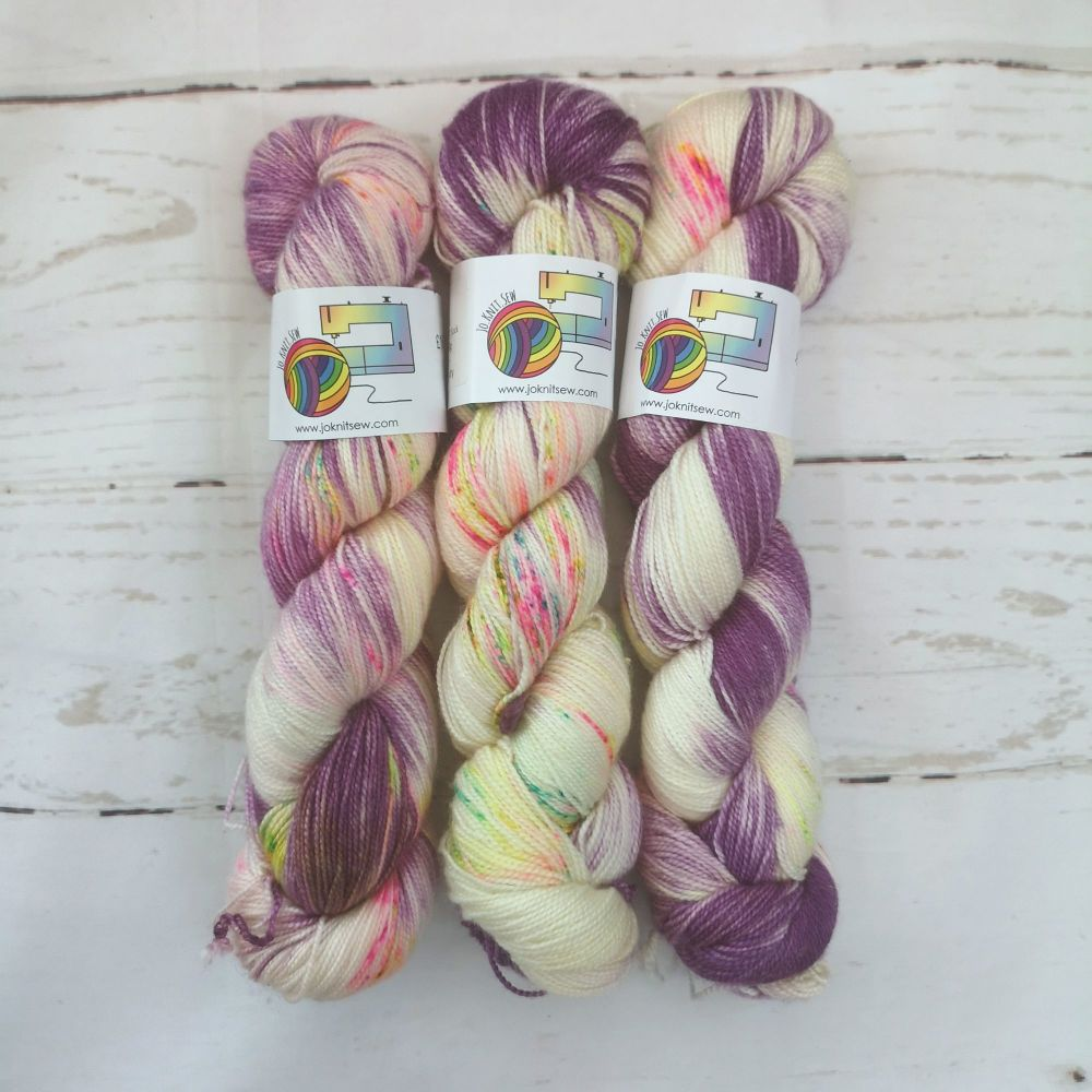Funfetti on Merino Silk High Twist Sock