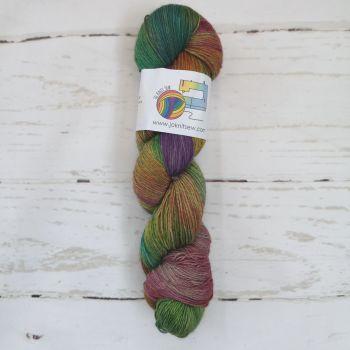 Rainbow Round on Merino / Yak / Nylon sock