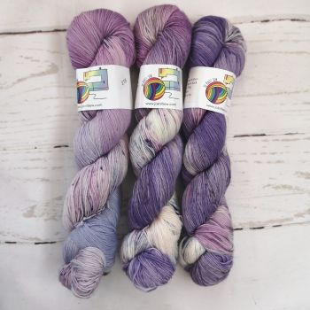Dreams of Lavender and Black on Merino / Nylon Platinum Sock
