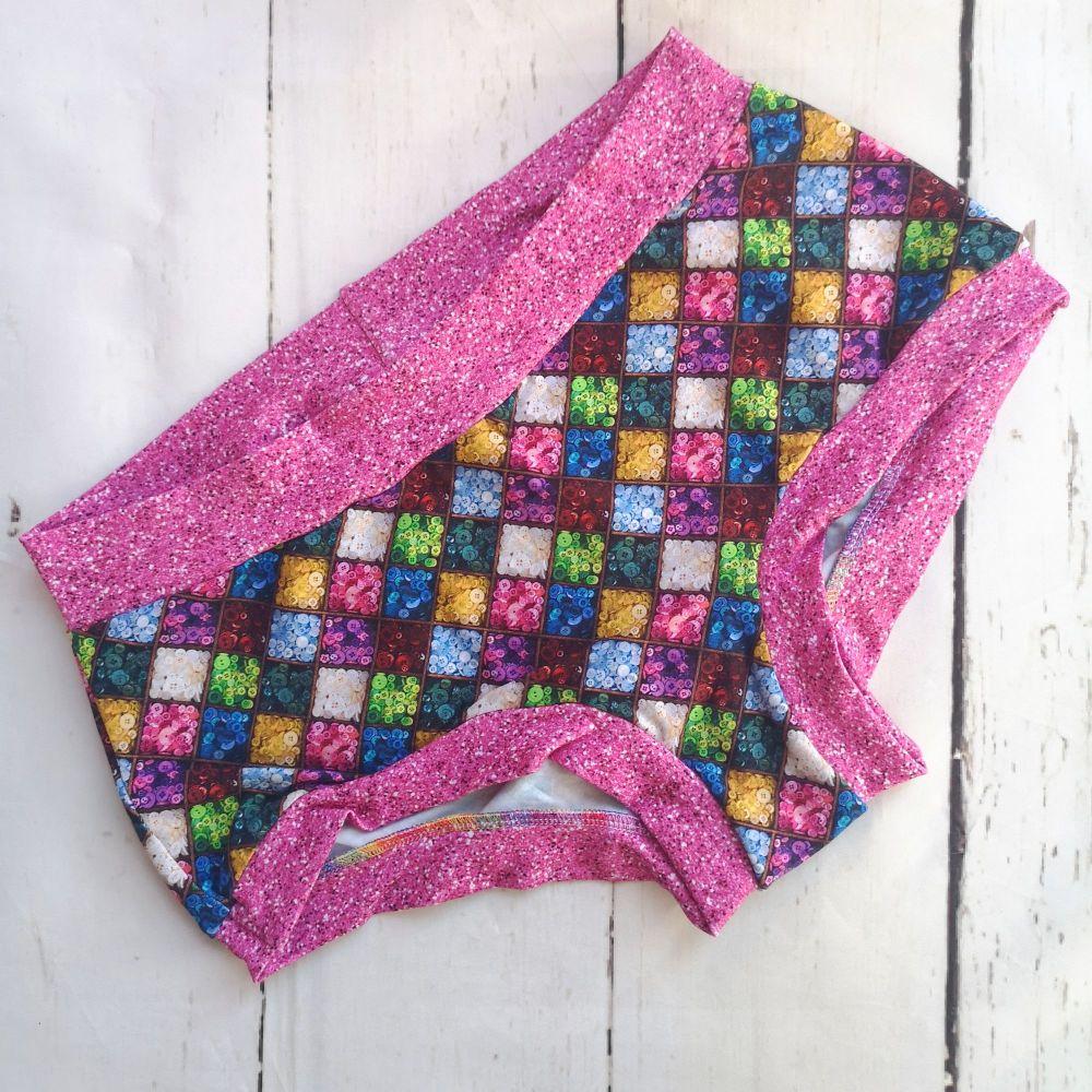 LARGE Boy Shorts UK 14-16 - Buttons