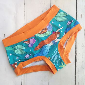 XL Boy Shorts UK 18-20 - Mermaids