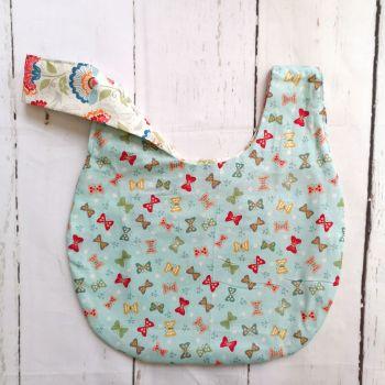 Butterfly / Floral Medium Project Bag (Zip Pocket)