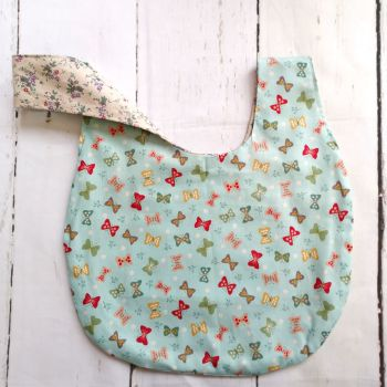 Butterfly / Ditsy Floral Medium Project Bag (Zip Pocket)