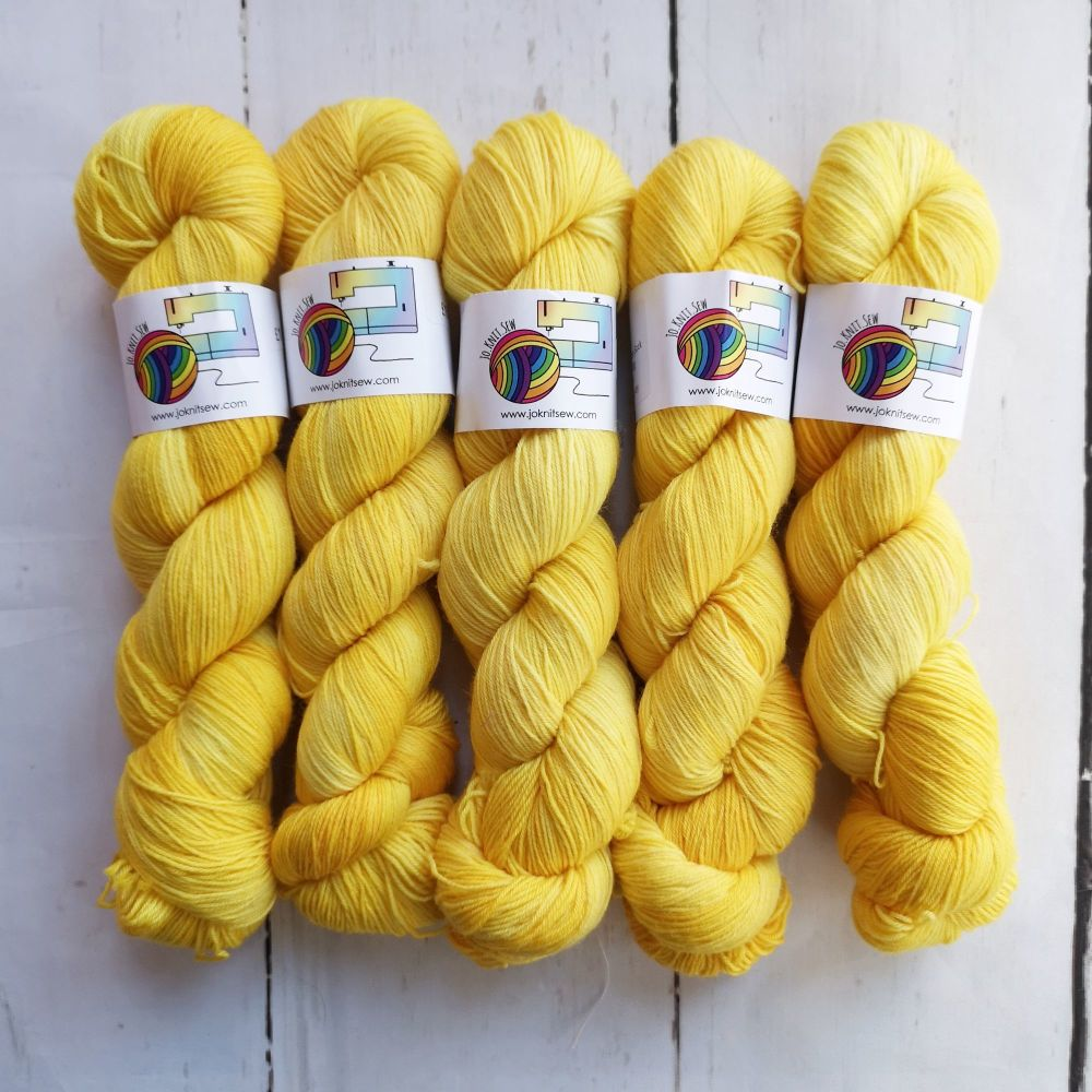 SUNSHINE Semi Solid on Merino Nylon Platinum sock