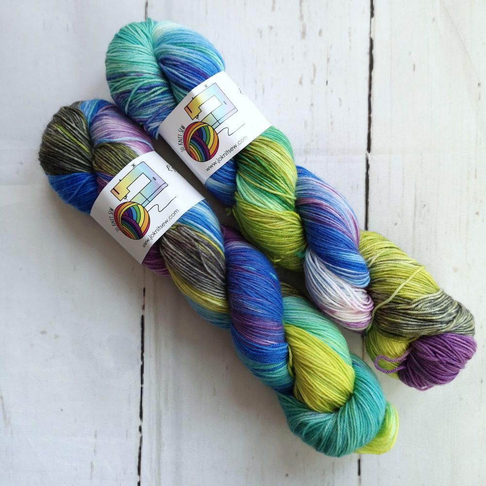 Shelley on Merino Nylon Platinum sock