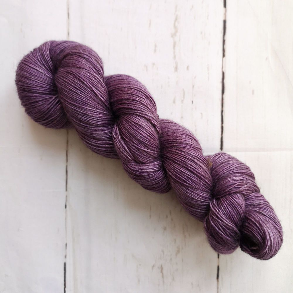 Solid Purple on Yak Singles Sock