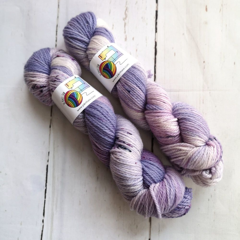 Dreams of Lavender & Black Super Merino Aran