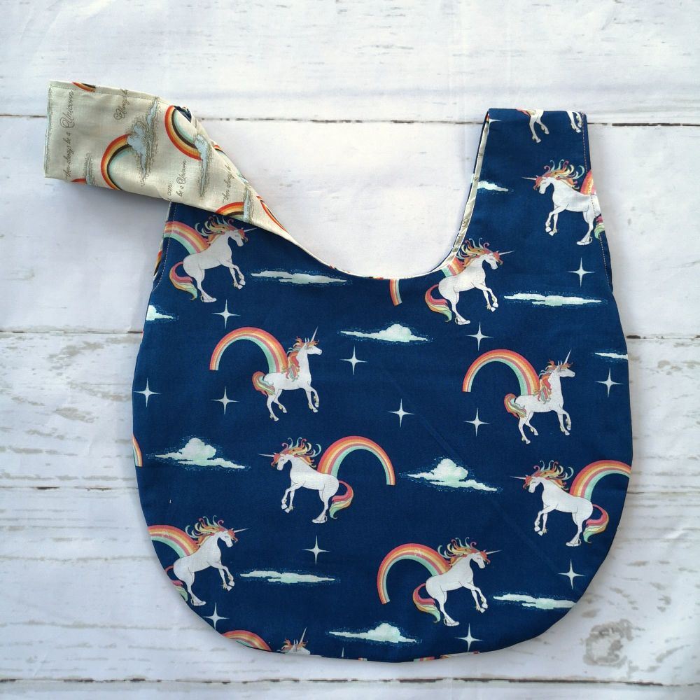Unicorns & Rainbows Medium Project Bag (Slip Pocket)