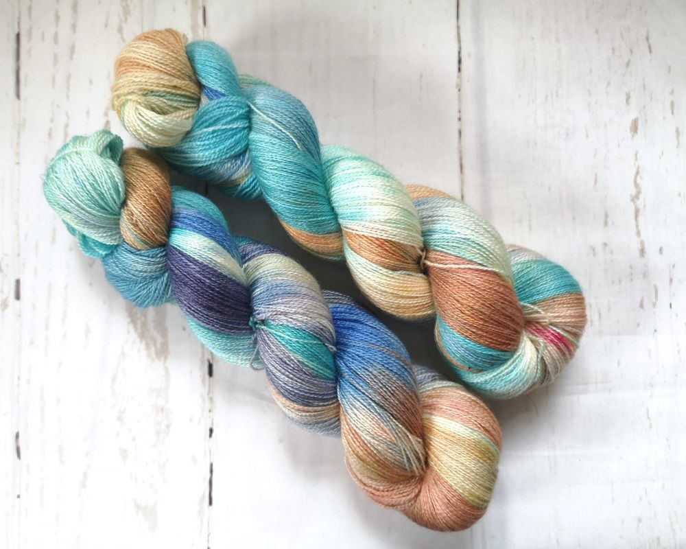 Verdigris on BFL / Silk Lace
