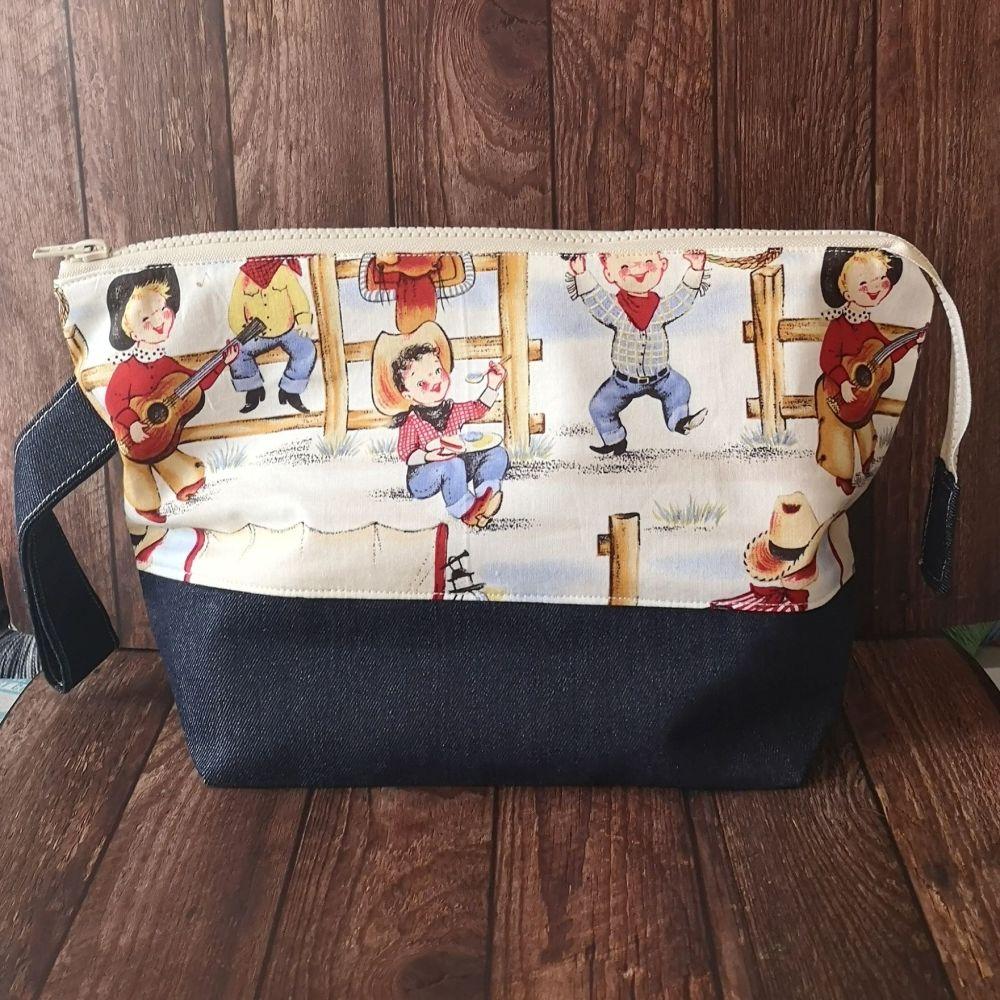 Toddler Cowboys Bottomed Project Bag