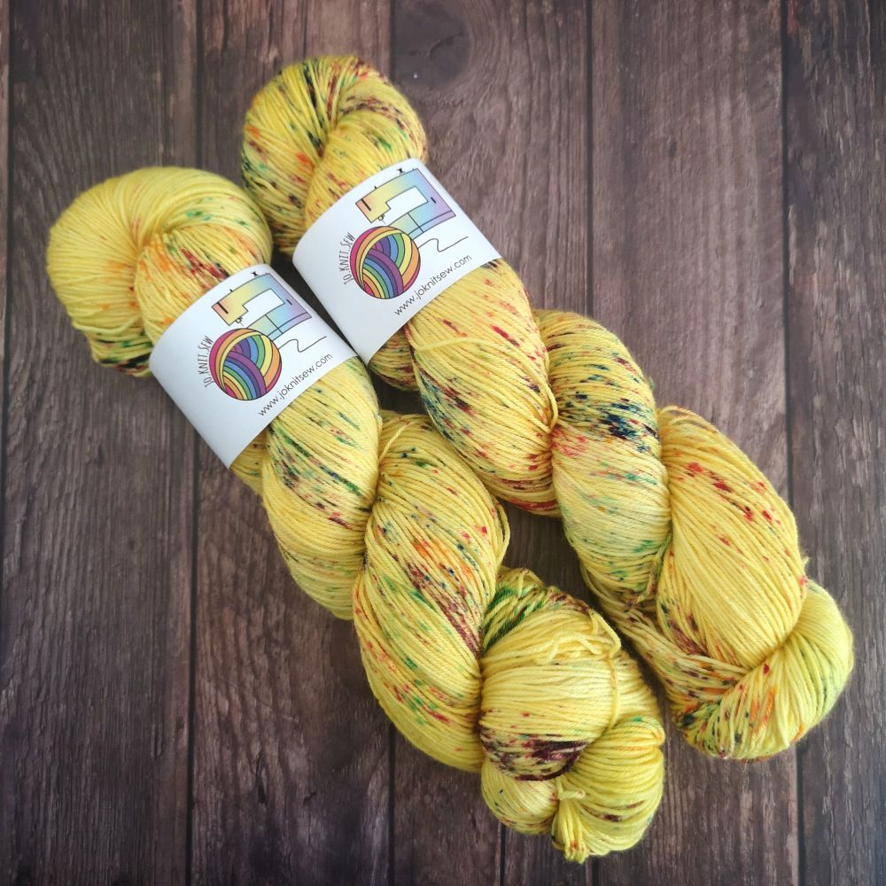 Sunshine & Lollipops on Merino Nylon Platinum sock