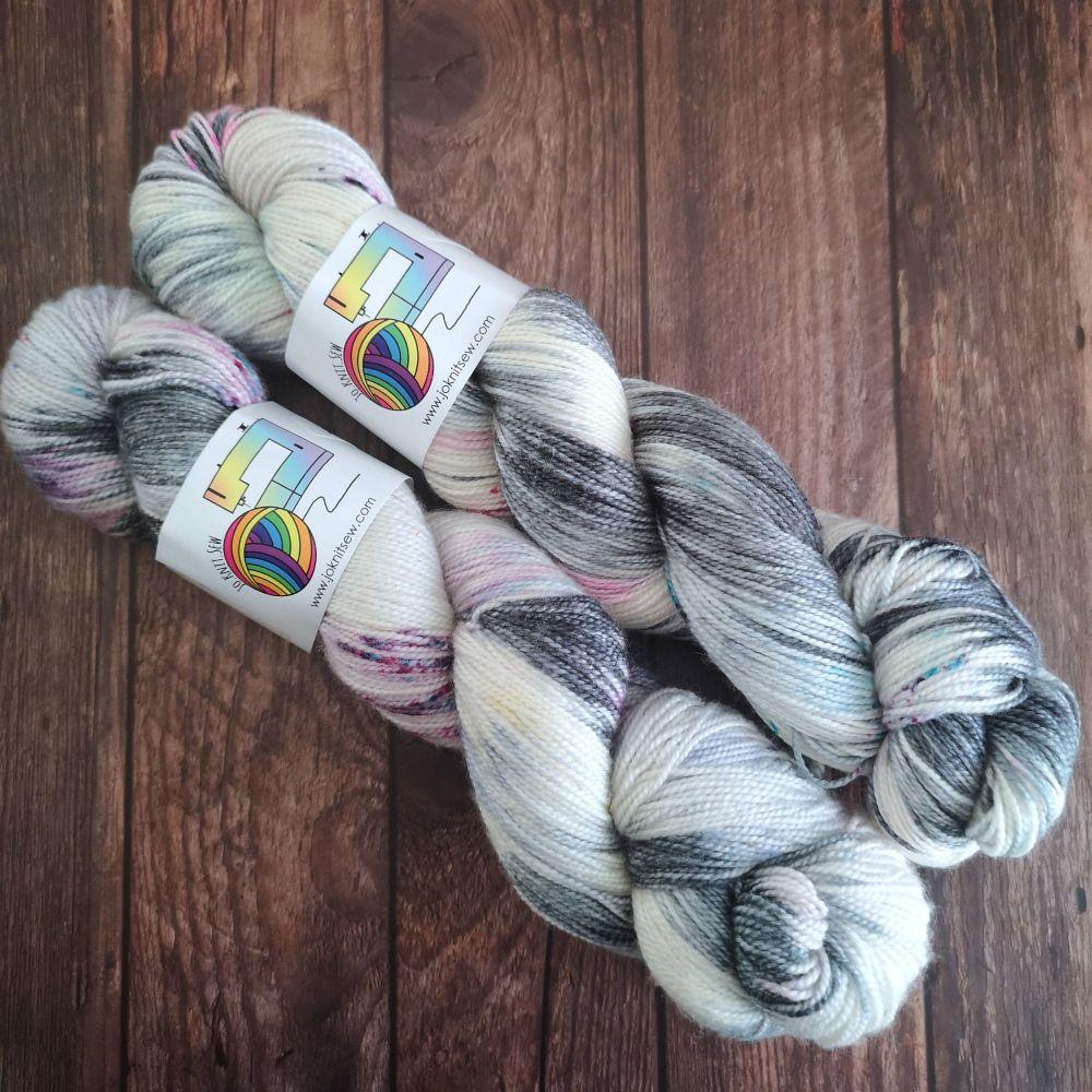 Spacey on Merino Silk High Twist Sock