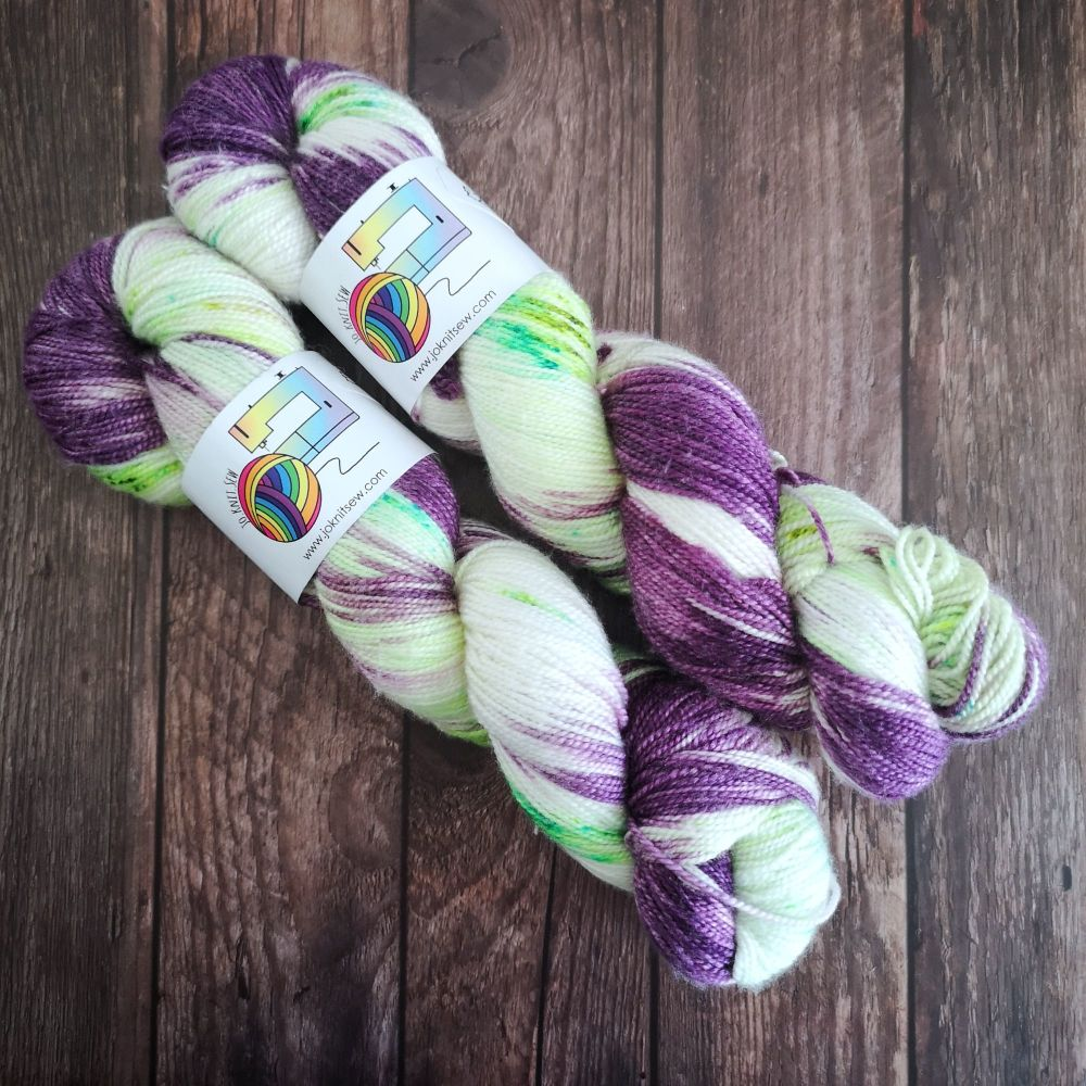 Out of This World on Merino Silk High Twist Sock