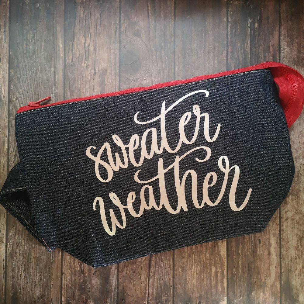 Sweater Weather Boxy Bottomed Project Bag