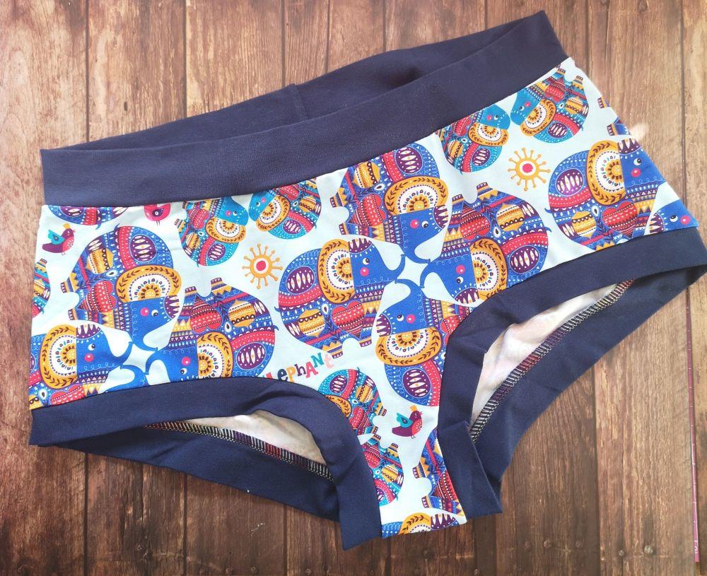MEDIUM Boy Shorts UK 10-12 - Ele-Pants