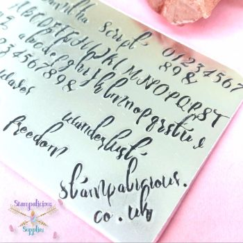 4mm Hand Stamping Font - SAMITHA SCRIPT - V3