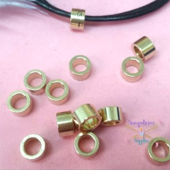 Brass Stamping Beads - Raw Brass Tube Beads - Medium