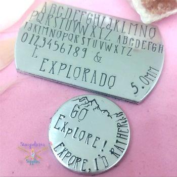 5mm Hand Stamping Font - EXPLORADO - V4