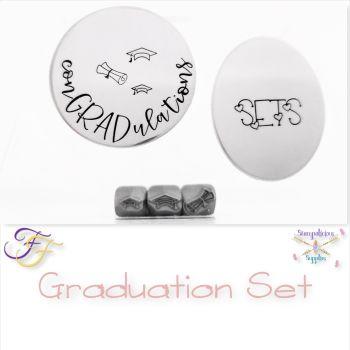 Graduation Metal Design Stamp Set