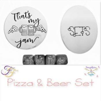 Pizza & Beer Metal Design Stamp Set