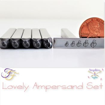 Lovely Ampersand Metal Design Stamp Set