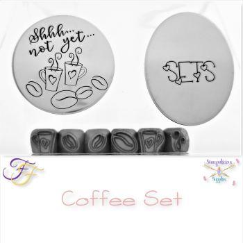 Coffee Metal Design Stamp Set