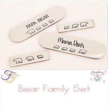 Bear Family Metal Design Stamp Set