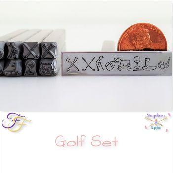 Golf Metal Design Stamp Set