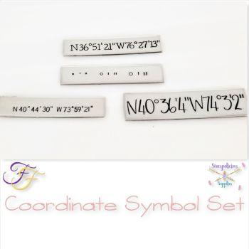 Coordinate Symbol Metal Design Stamp Set