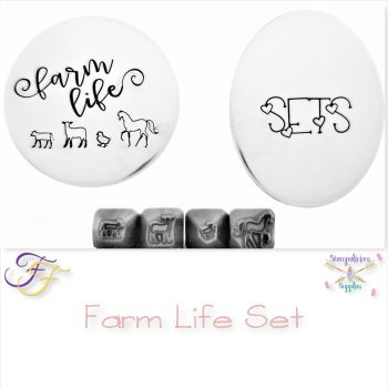 Farm Life Metal Design Stamp Set