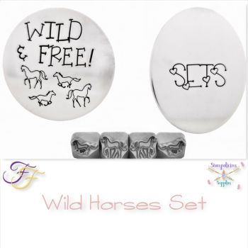 Wild Horses Metal Design Stamp Set