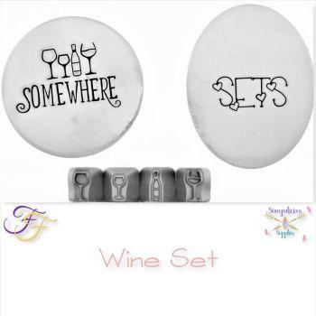 Wing Glass & Bottle Metal Design Stamp Set