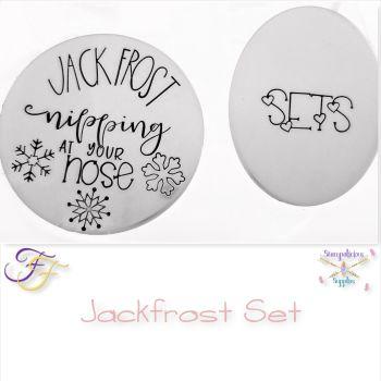 Jack Frost Snowflake Metal Design Stamp Set