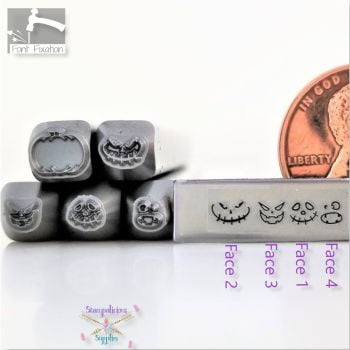 Jack O Lantern Face Metal Design Stamp - Individuals