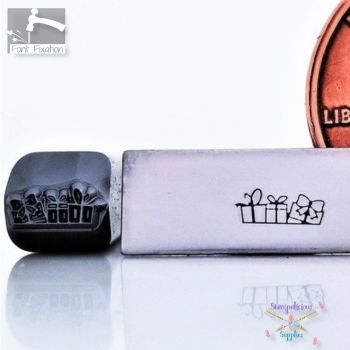 Truck Load Christmas Presents Metal Design Stamp