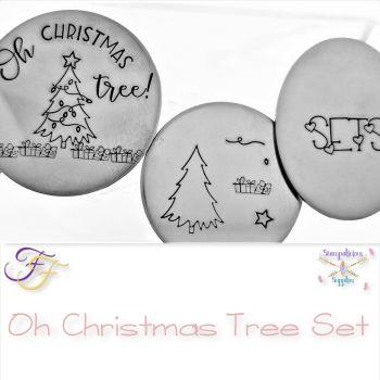 Chrismtas Metal Design Stamp Set - Oh Christmas Tree