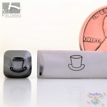 Snowman Top Hat Metal Design Stamp