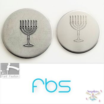Menorah Metal Design Stamp - Fat Bottom Shank
