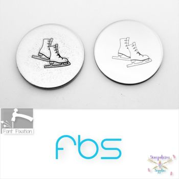 Ice Skates Metal Design Stamp - Fat Bottom Shank