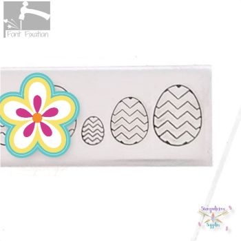 Easter Egg Metal Design Stamp #3
