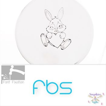 Large Love Bunny Metal Design Stamp - Fat Bottom Shank