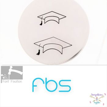 Large Graduation Cap Design Stamp - Fat Bottom Shank - Which One?