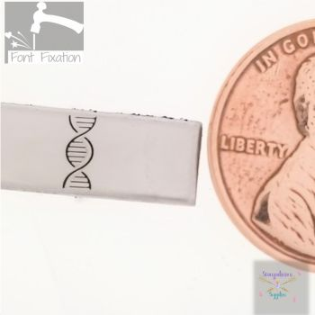 Double Helix DNA Metal Design Stamp