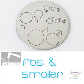 Gender Symbol Metal Design Stamp - Which One?
