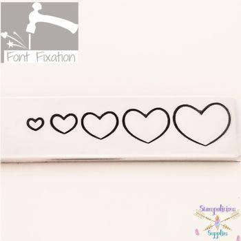 Full Heart Metal Design Stamp Set