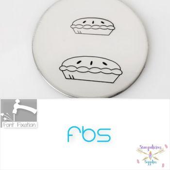Pie Metal Design Stamps - FBS